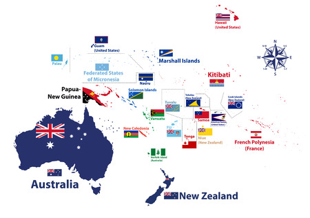 Asian, Australia And Oceania Countries Maps Royalty Free Cliparts ...