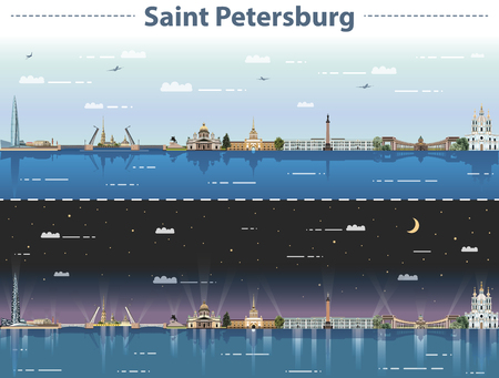 vector illustration of Saint Petersburg city skyline