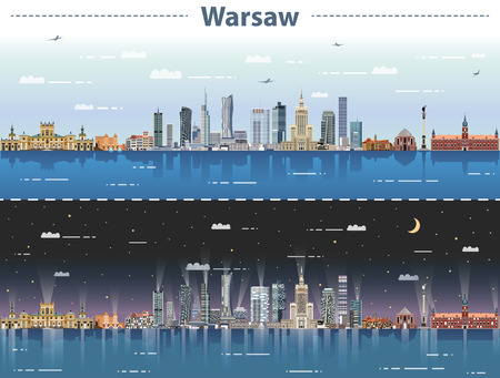 vector illustration of the city of Warsaw