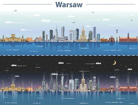 vectorillustratie van de stad Warschau