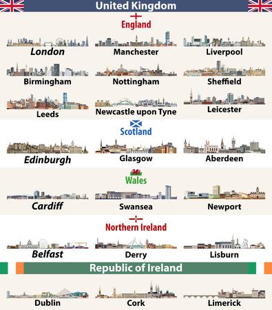 British Isles countries: United Kingdom (England, Wales, Scotland, Northern Ireland) and Ireland
