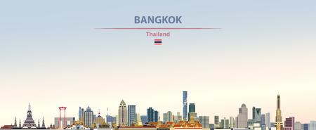Illustration vectorielle de la ville de Bangkok, Thaïlande. Vecteurs