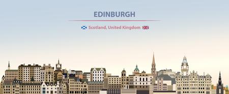 Edinburgh vector city skyline