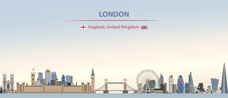 vector london city skyline background