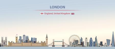 vector london city skyline background