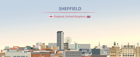 Vector background of the city skyline of Sheffield