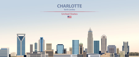 Vector Illustration of United States of America Charlotte City Skyline