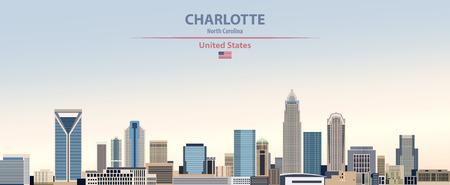Vector Illustration of United States of America Charlotte City Skyline