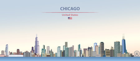 Vector illustration of the skyline of Chicago