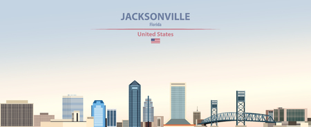 Vector Jacksonville city skyline