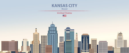 Vector Illustration of Kansas City skyline Stockfoto - 121180780