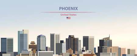 Vector illustration of Phoenix city skyline