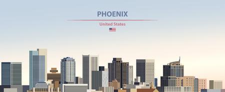Vector illustration of Phoenix city skyline Vetores