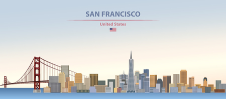 Vector illustration of San Francsico city skyline