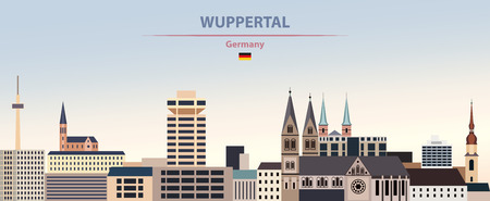 Vector illustration of Wuppertal city skyline Vetores