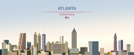 Vector illustration of Atlanta city skyline