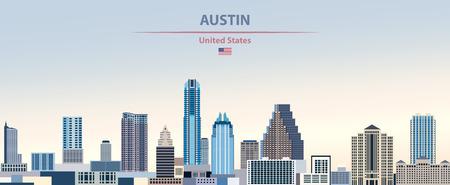 Vector illustration of Austin city skyline