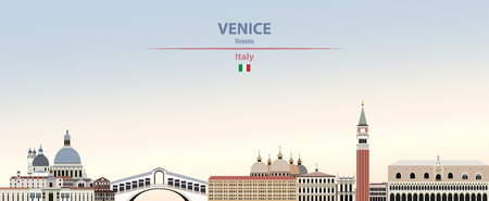 Vector illustration of Venice city skyline.