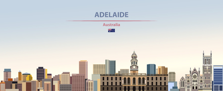 Vector skyline of the Adelaide