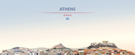 Vector illustration of Athens city skyline Ilustrace