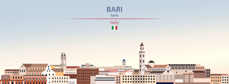Vector Illustration of Bari city skyline