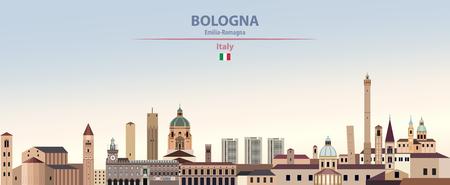 Bologna vector city skyline Illusztráció