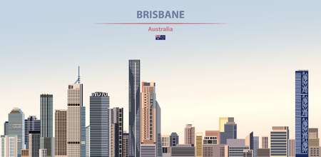 Vector illustration of Brisbane city skyline