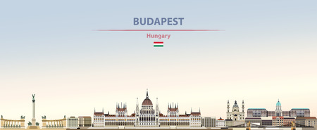 Vector illustration of Budapest city skyline