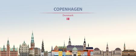 Illustration vectorielle des toits de la ville de Copenhague