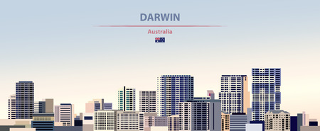 Vector illustration of Darwin city skyline Stockfoto - 122274732