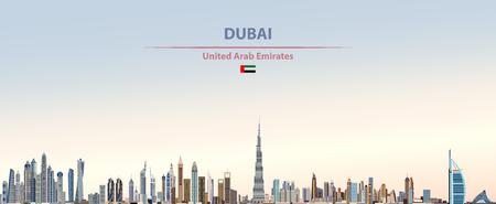 Ilustración de vector de horizonte de la ciudad de Dubai