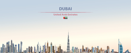 Vector illustration of Dubai city skyline