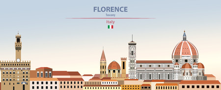 Vector Illustration of Florence City skyline
