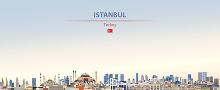 Vector illustration of Istanbul city skyline