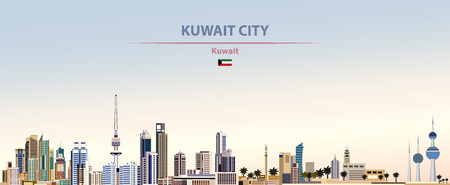 Vector illustration of Kuwait City skyline