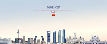 Vector illustration of Madrid city skyline