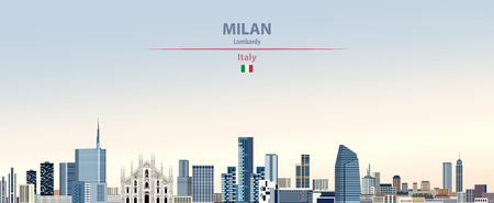 Vector illustration of the city of Milan