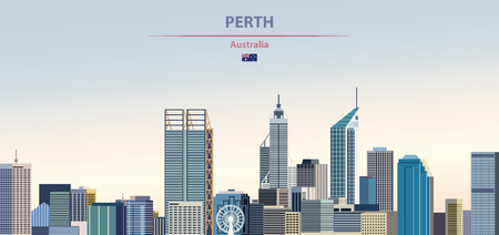 Vector illustration of Perth city skyline