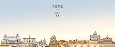 Vector illustration of Rome city skyline