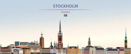 Vector illustration of Stockholm city skyline
