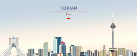 Vector illustration of Tehran city skyline 일러스트