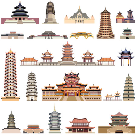 pagodas and ancient temples