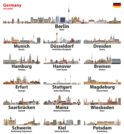 Germany state capitals cities skylines.