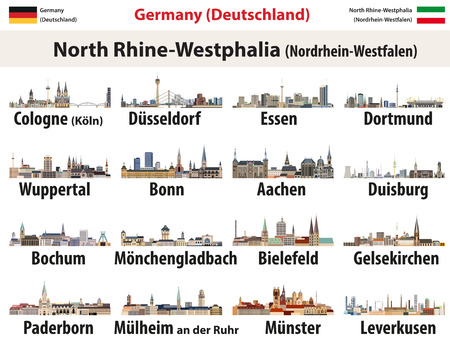 North Rhine- Westphalia largest cities skylines icons