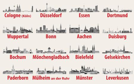 Darstellung des Landes Nordrhein-Westfalen Vektorgrafik