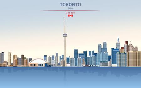 illustration of the city skyline of Toronto Standard-Bild - 122398157