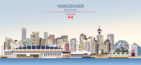 illustration of the city skyline of Vancouver