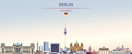 illustration of the city skyline of Berlin