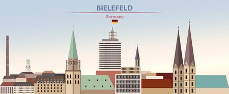 illustration of the city skyline of Bielefeld