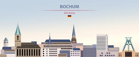 illustration of the city skyline of Bochum Standard-Bild - 122398161